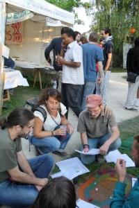 Partie du Jeu de l'oie de l'économie sociale et solidaire- Festival La Tour Prend l'Air-2011