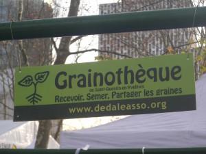 Banderole de la Grainothèque