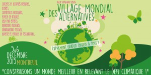 Nous serons au Village Mondial des Alternatives ! 🗓 🗺