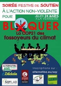 Soirée festive de soutien à l'action de blocage « COP21 des fossoyeurs du climat »