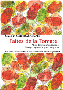 Faites de la Tomate, samedi 27 août 14h à Guyancourt 🗓 🗺