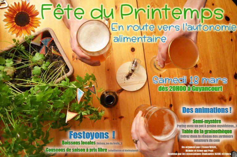 18 mars Fête du Printemps : en route vers l'autonomie alimentaire 🗓