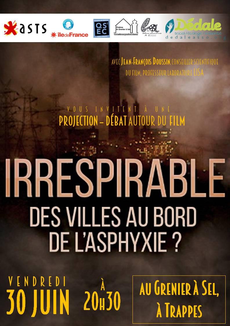 Ciné-débat : Irrespirable, le 30 juin au Grenier à Sel de Trappes 🗓 🗺