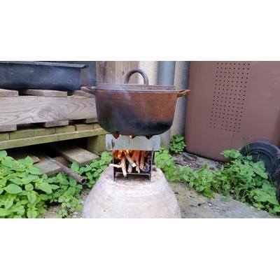 AAP fabrication d'une cuisinière à bois portative à Saint-Cyr-l'École fin juin