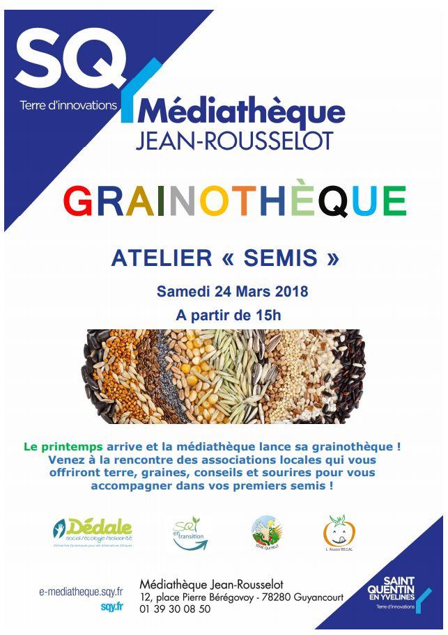Samedi 24 mars à Guyancourt : Ouverture d'une Grainothèque 🗓 🗺