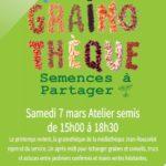 Samedi 7 mars 2020 à la Médiathèque Jean Rousselot à Guyancourt : Atelier de Semis