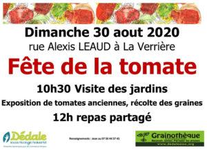 Fête de le tomate                                       aux Jardins de La Verrière le Dimanche 30 août 2020 🗓