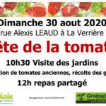 Fête de le tomate                                       aux Jardins de La Verrière le Dimanche 30 août 2020