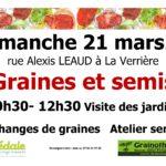 Échange de graines et atelier de semis à La Verrière