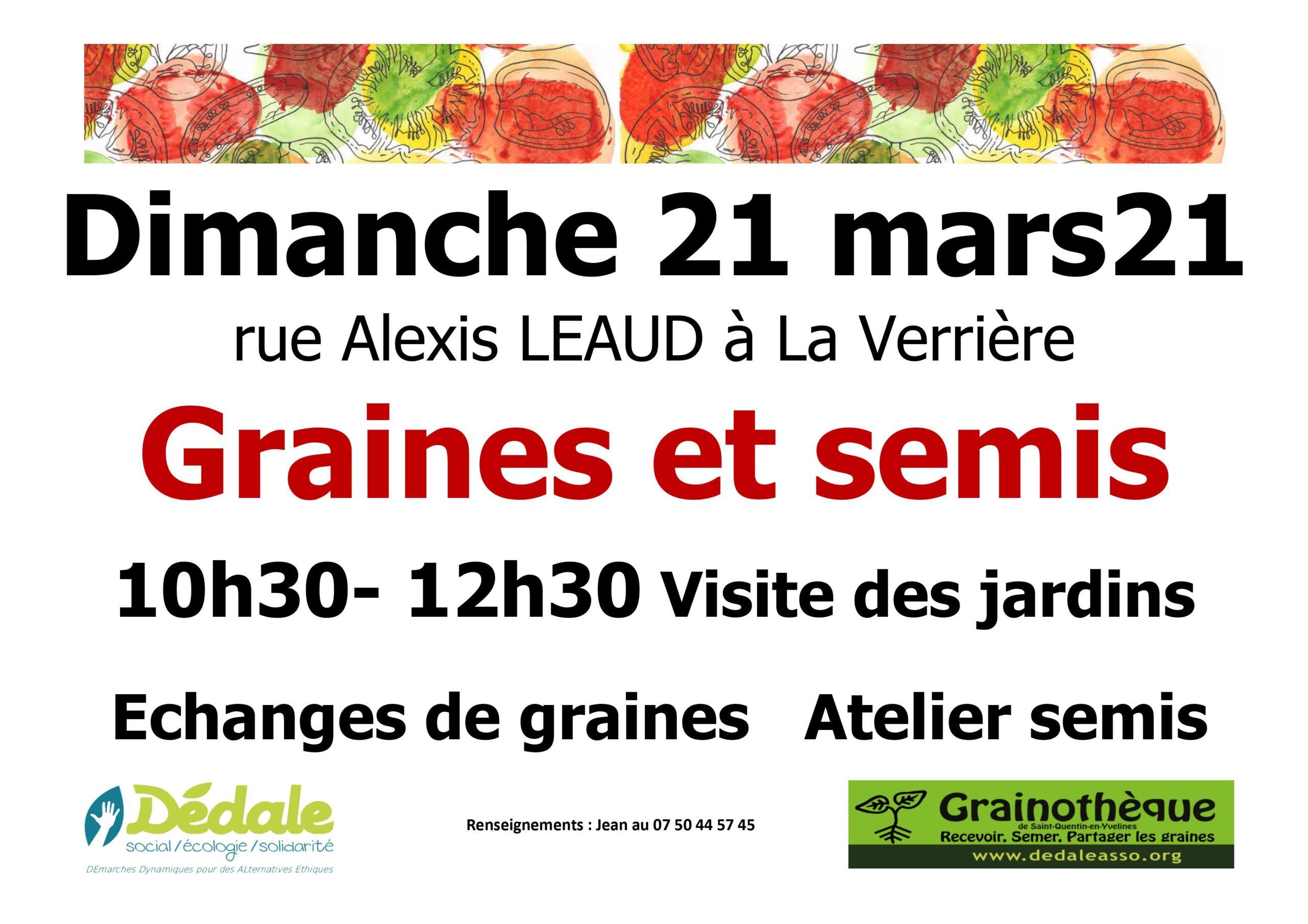 Échange de graines et atelier de semis à La Verrière 🗓